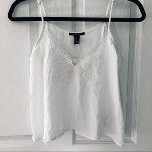 White forever 21 cami